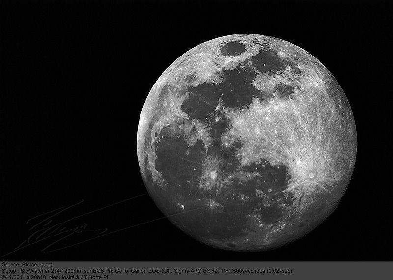 Pleine lune - Lune montante et descendante ...