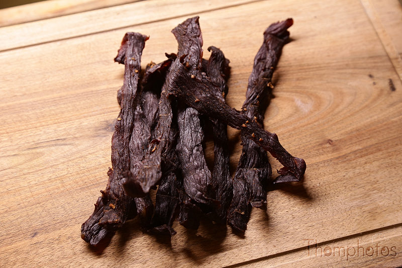 cuisine cooking plat nourriture bouffe repas meal fait maison hand made beef jerky boeuf séché dry viande meat US USA america