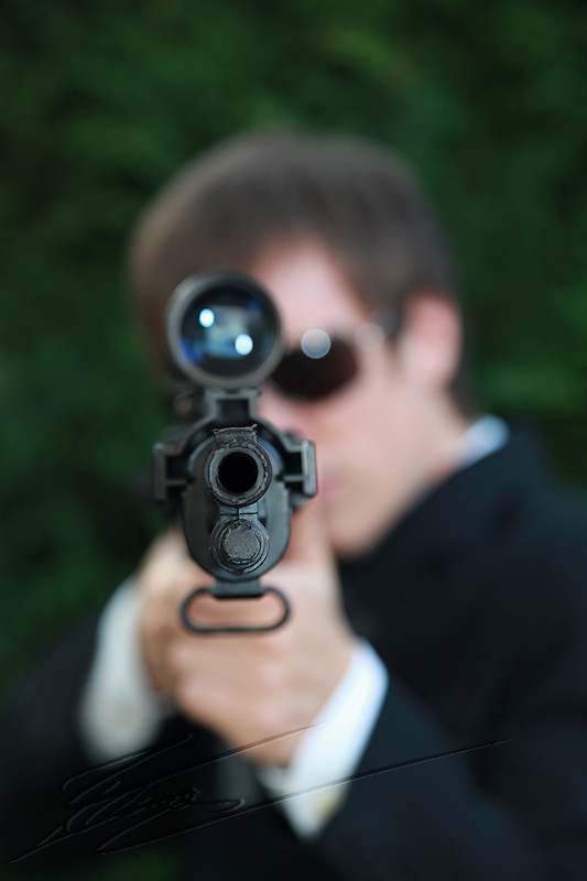 nico horatio caine experts miami james bond costard m14 sniper lunette visée tir