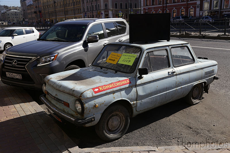 reportage photo 2018 russie saint petersbourg petrograd voiture car deco CCCP urss old ancienne